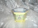 Handpainted  Yellow Porcelain Planter