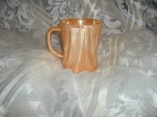 Vintage Fire King Peach Luster Mug