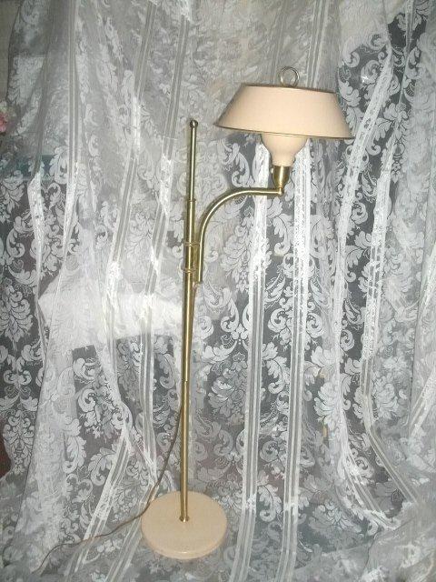 Vintage Adjustable Floor Lamp w/Metal Shade