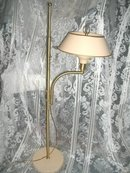 Vintage Adjustable Floor Lamp w/Metal Shade