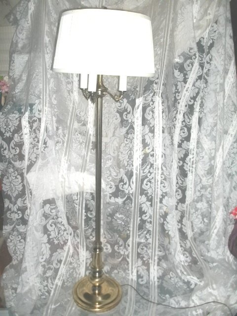 Vintage Floor Lamp w/Shade Pair