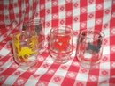 Vintage Federal Glass Company Juice Glass Set w/Animals