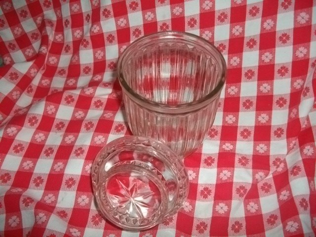 Vintage Large Glass  Canister