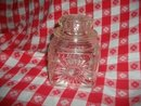Vintage Small  Square  Glass  Canister