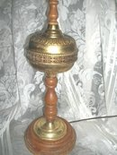 Vintage Reticulated Brass Table Lamp