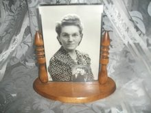 Vintage Wood & Glass Picture Frame
