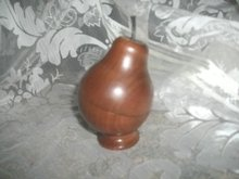 Vintage Carved  Wood Pear