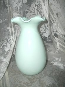 Vintage Jadeite Type Glass Vase