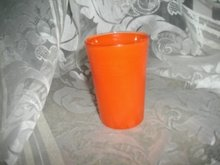 Vintage Bright Orange Juice Glass