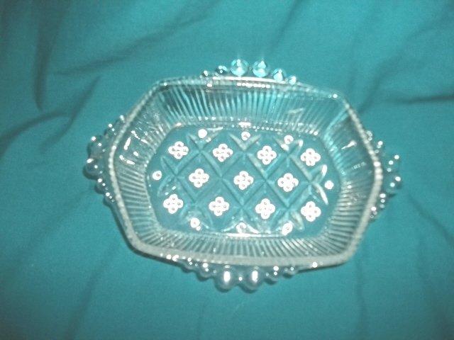 Vintage Beaded Glass Dish