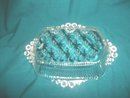 Vintage Beaded Glass Dish