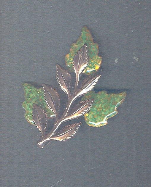 Vintage Matisse Renoir Copper & Enamel Pin