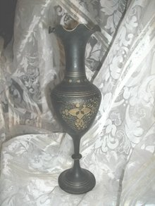 Vintage Fancy Brass Vase