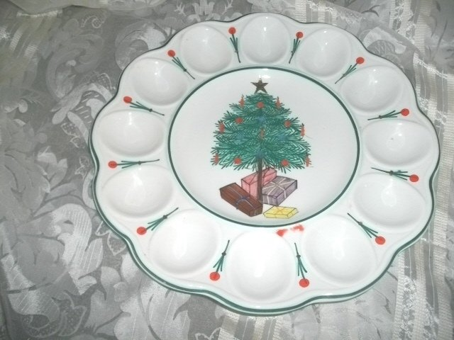 Vintage Italian Christmas Serving Trah