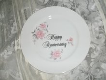Vintage Happy Anniversary Plate