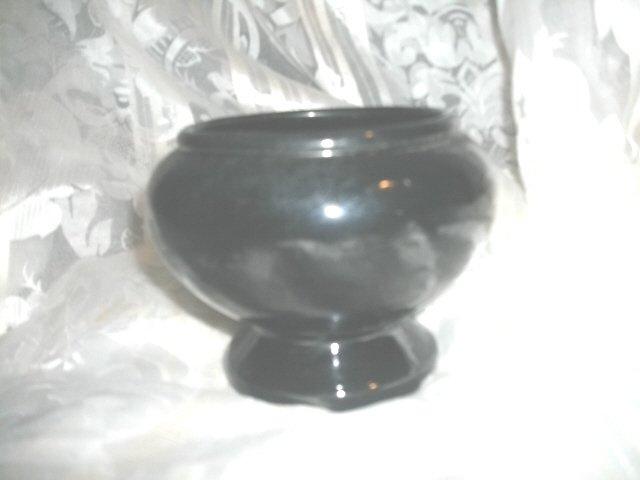 Vintage Black Frankoma Pottery Vase or Planter