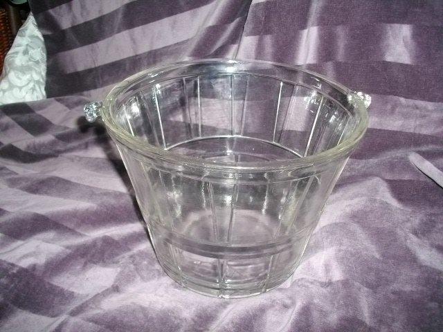 Vintage Large Glass Bushel Basket