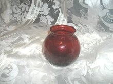 Vintage Dark Red Glass Dish