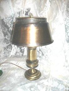 Vintage Metal Lamp w/Metal Shade