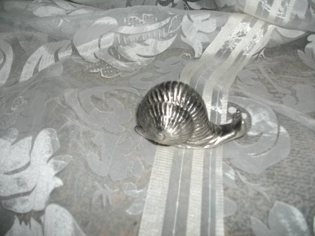Pewter Snail Paperweight