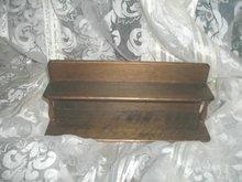 Vintage Small 2 Tier Wooden Shelf