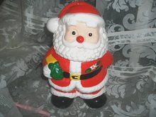 Santa Claus Cookie Jar   Christmas Cookie Jar