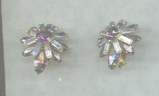 Vintage Purple Kramer Earrings