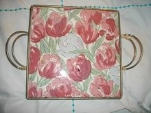 Vintage Ceramic Tile Tray