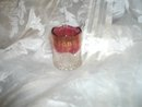Antique Ruby Stained Glass Toothpick Holder