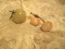 Vintage Carved Alabaster Fruit   **3 Pieces