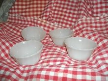 Vintage Fire King Custard Cups **Set of 4