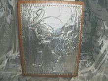 Pressed Metal Picture on Wood
