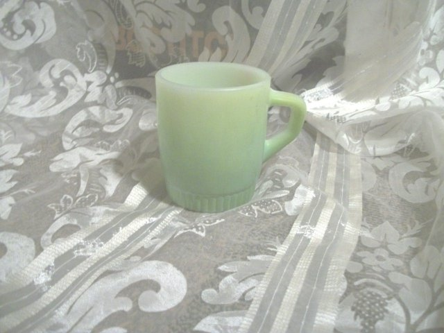 Vintage Green Fire King Mug