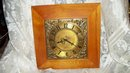 Vintage Wood & Brass Wall Clock