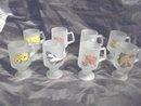 VintageTiara Frosted Pedestal Cup  **Set  8**