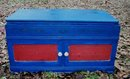 Vintage Folk Art Painted Blanket Chest