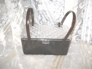 Vintage Lucite Box Handbag or Purse