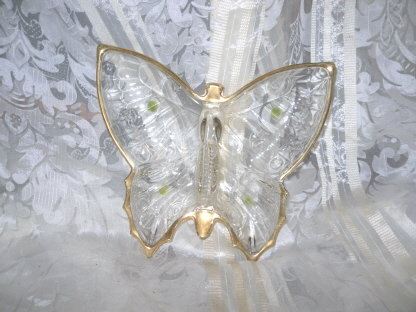 Vintage Glass Butterfly Dish