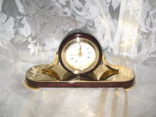 Wood & Brass Clock