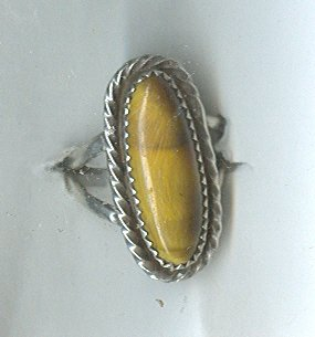 Silver & Tigereye Ring