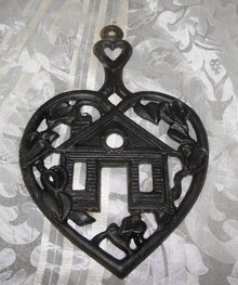 Vintage Cast Iron Heart Trivet