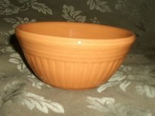 Vintage Yellow Ware Pottery Mixing Bowl