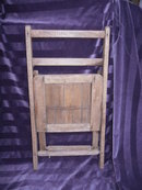 Vintage Children's Wooden Folding Chair