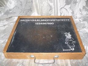 Vintage Pressman Chalk Board Carry Case