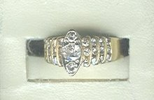 14 kt Gold &  3/4 Carat  Diamond Ring  ****LOOK****