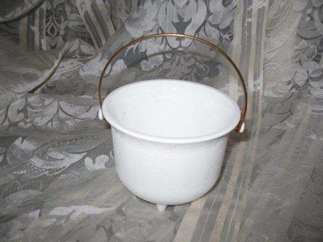 Vintage Milk Glass Kettle