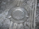 Vintage  Hammered  Aluminum  Ashtray