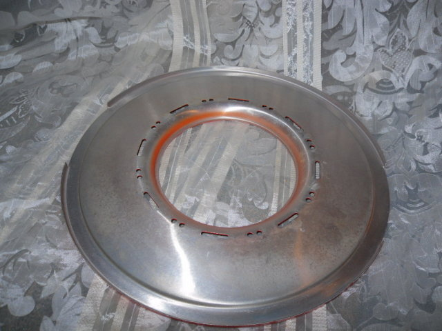 Vintage  Enamel & Metal Globe Reflecter