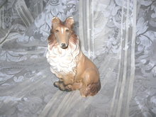Vintage  Porcelain Collie Figurine