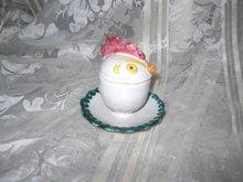 Vintage  Rooster Figural Egg Cup